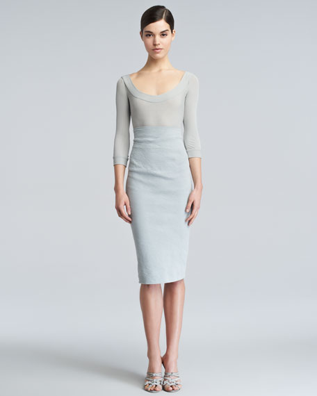High-Waist Skirt, Waterlily