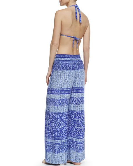 Carioca Liceh Printed Silk Pull-On Coverup Pants