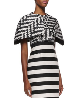 Christian Siriano Short Zigzag Cape