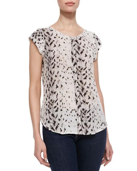 Iva Leopard-Print Silk Blouse