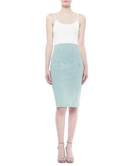 Raised-Waist Skirt, Jade