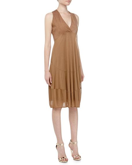 Foundation Sleeveless Jersey Dress, Pekoe