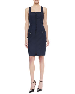 Yoana Baraschi Blue Stretch Denim Tank Dress, Indigo