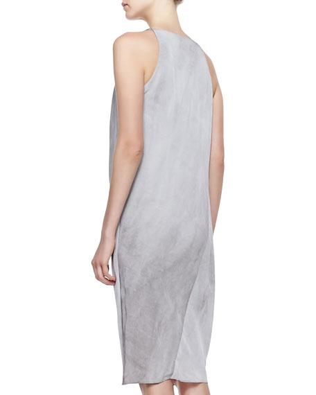 Folded Cowl Chemise Dress, Oyster