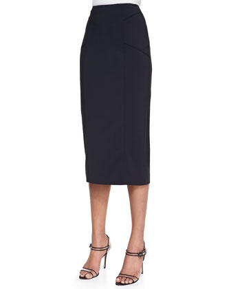 Cotton Scuba Pencil Skirt