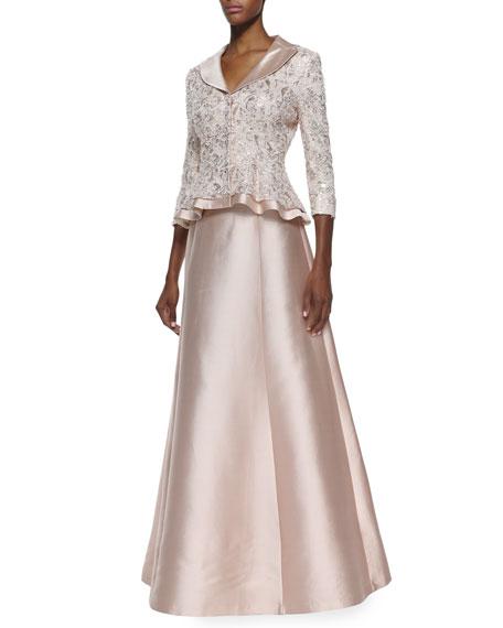Wool-Silk A-Line Long Full Skirt