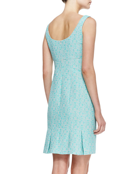 Demure Square-Neck Sleeveless Dress