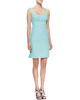Nanette Lepore Demure Square-Neck Sleeveless Dress