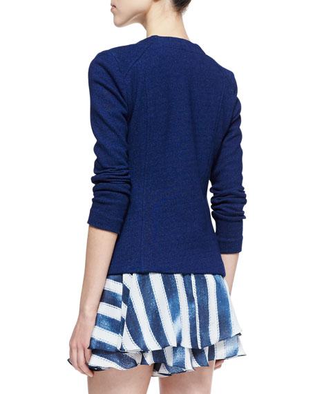 Dreamy Denim Knit Jacket, Indigo