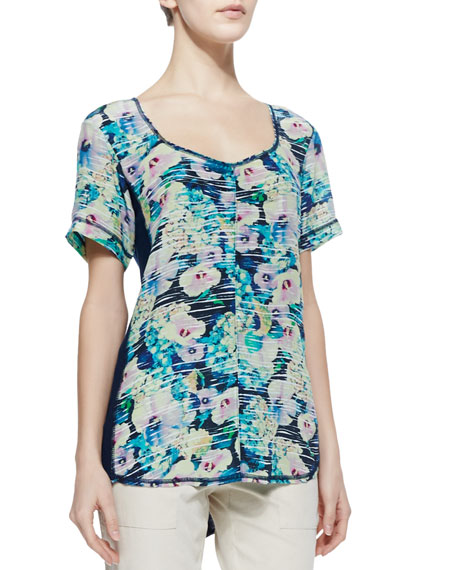 Everlasting Floral-Print Jersey Top