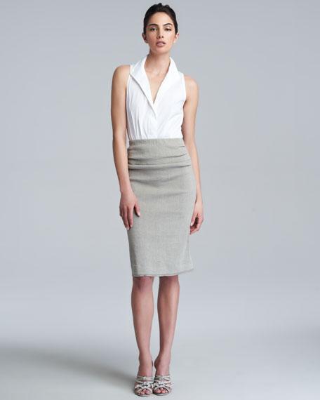 Pull-On Straight Skirt, Hemp