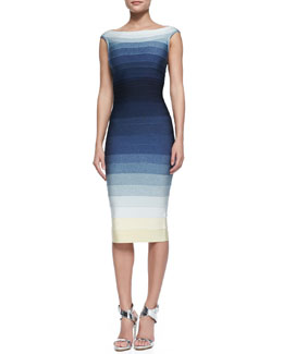 Herve Leger Ardell Ombre Bandage Dress