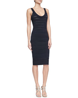 Herve Leger LilyKate Scalloped Scoop-Neck Bandage Dress