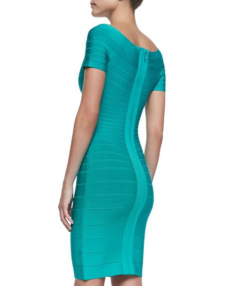 Carmen Off-The-Shoulder Bandage Dress