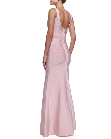 Ellen Scoop-Neck Bandage Gown