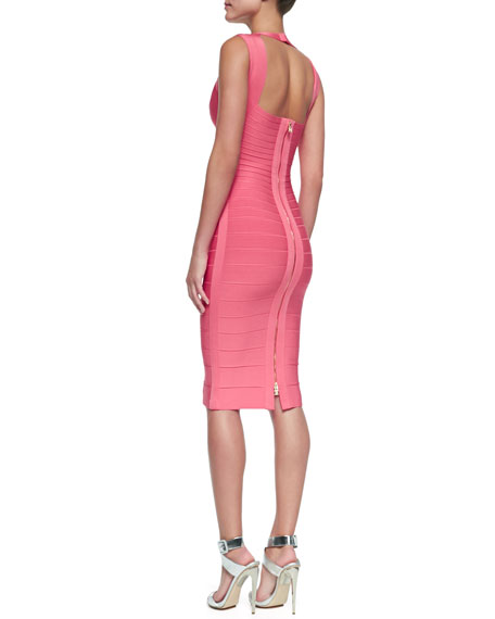 Sarai Sweetheart-Neck Bandage Dress