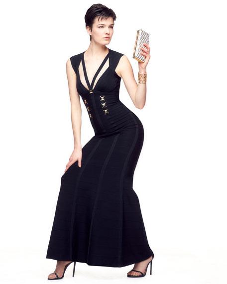 Eloni Hardware Bandage Gown