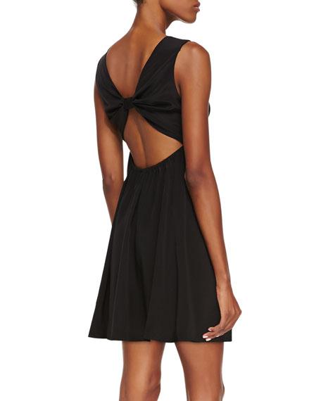 Annie Sleeveless Bow-Back Dress