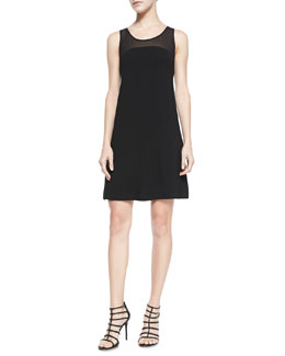 Robbi & Nikki Sleeveless A-Line Combo Dress, Black