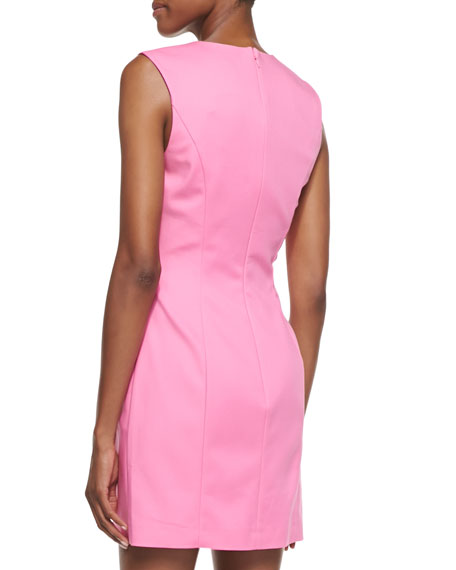 Spring Break Stretch Sateen Sheath Dress, Pink