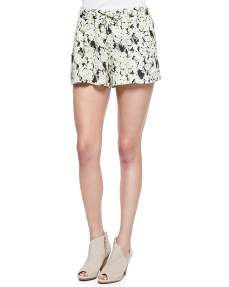 Tropical Printed/Check Shorts