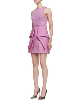 Tibi Simona Sleeveless Origami Dress, Boysenberry
