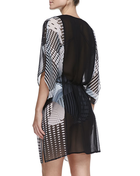 Printed Robe-Style Coverup