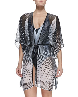 Clover Canyon Printed Robe-Style Coverup