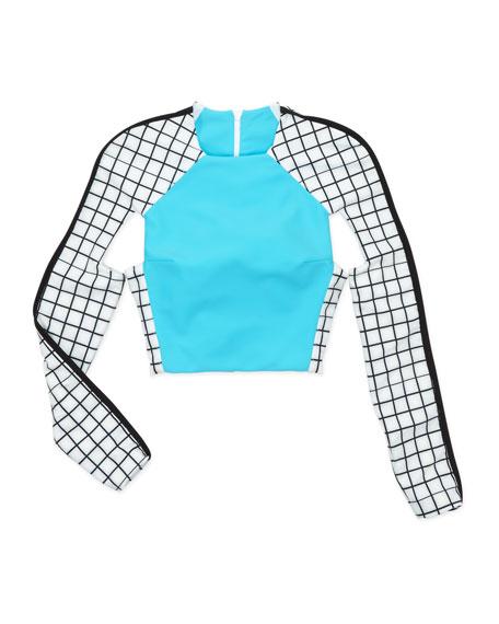 Long-Sleeve Cutout Rashie Surf Shirt