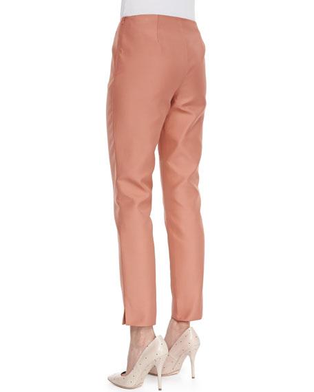Stanton Straight-Leg Ankle Pants, Adobe