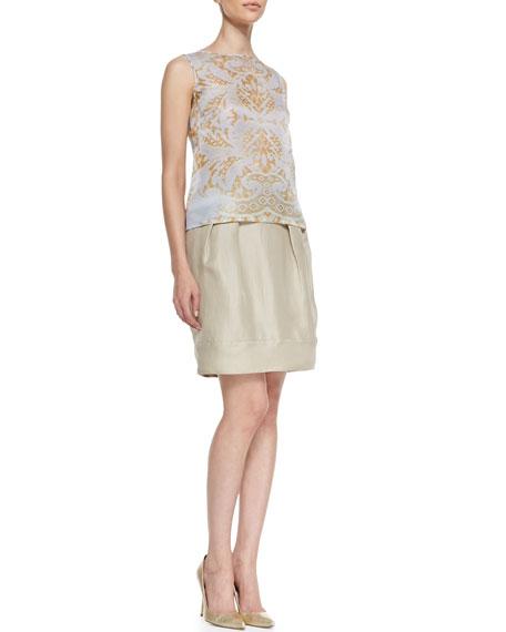 Jackie Pleated Silk Skirt