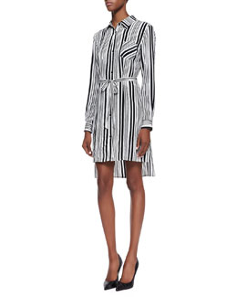 Rebecca Minkoff Frankie Silk Shirtdress