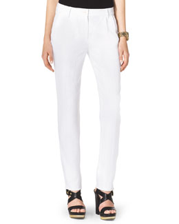 MICHAEL Michael Kors  Pleated Slim Pants