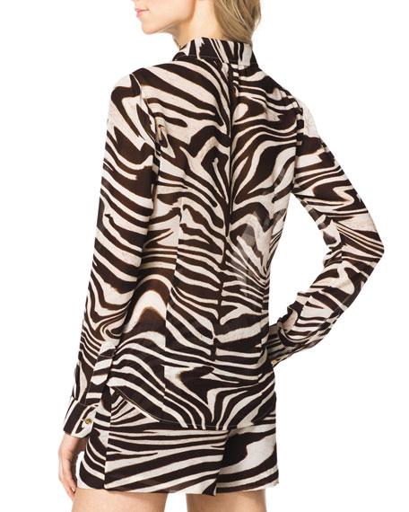 Zebra-Stripe Blouse