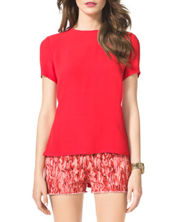MICHAEL Michael Kors Flare-Back Top