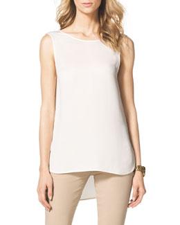 MICHAEL Michael Kors  High-Low Tank Blouse