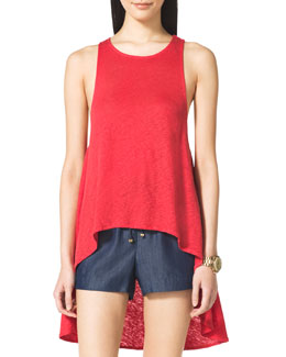 MICHAEL Michael Kors  High-Low Slub Tank