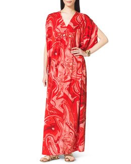 MICHAEL Michael Kors  Printed Beaded Caftan