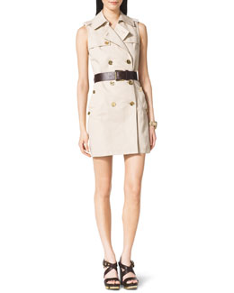 MICHAEL Michael Kors  Double-Breasted Trench Dress