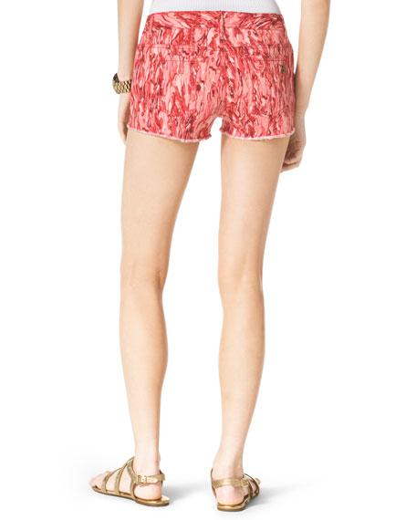 Pigment-Print Cutoff Shorts