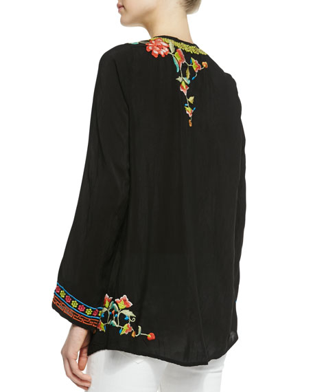 Suko Embroidered Georgette Blouse