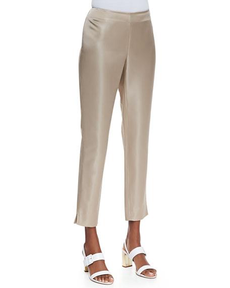 Stanton Satin Straight-Leg Pants