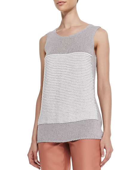 Crochet-Knit Scoop-Neck Tank