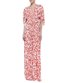 Rachel Pally Print-Jersey Maxi Caftan Dress