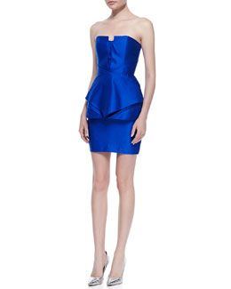 Suboo Origami Satin Strapless Panel Dress