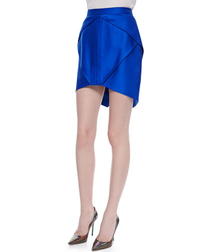 Suboo High-Low Origami Skirt, Cobalt Blue