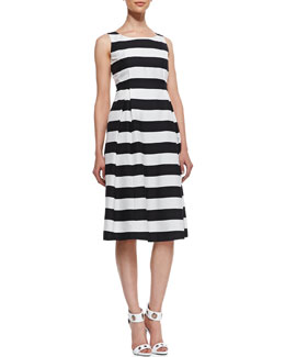 Lafayette 148 New York Macenna Silk Full-Skirt Dress