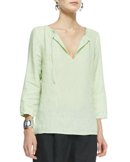 Eileen Fisher Handkerchief Linen Box Top, Women's