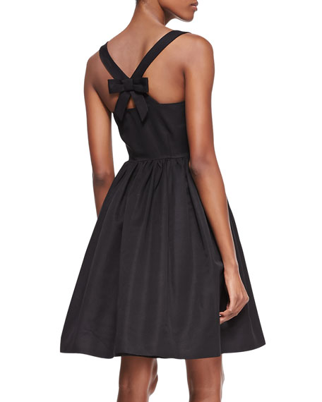 tanner sleeveless flared cocktail dress, black