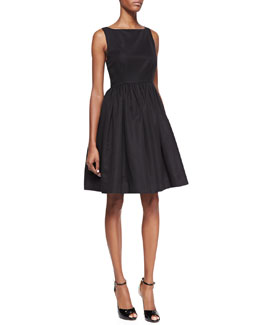 kate spade new york tanner sleeveless flared cocktail dress, black